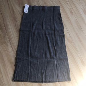 UNIQLO Women merino wool blend ribbed skirt sz L